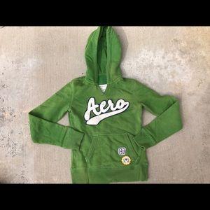 Aero sweater green jacket hoodie Aeropostale